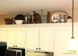 Kitchen Soffit Decorating Ideas by Best Above Kitchen Cabinet Decorating Ideas Images Amazing