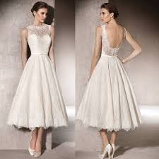 Elegant Off White Sexy Short Wedding Dress 2017 Lace Bridal Gown Backless Romantic Outdoor Gowns