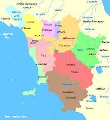 Map Of Tuscany Region