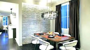 Modern Accent Wall Contemporary Dining Room With A Gray Stone Paint