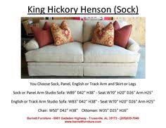 King Hickory Sofa Construction by King Hickory Winston Sofa With Track Arm And Modern Leg You