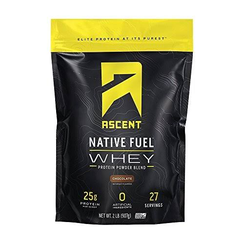 Ascent Native Fuel Whey Protein Powder - Chocolate, 2lbs