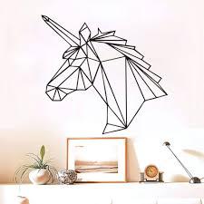 wall ideas unicorn wall decals bedroom decor gold unicorn wall