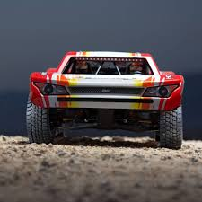 100 Losi Desert Truck 16 Super Baja Rey 4WD Brushless RTR With AVC Red