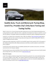 100 Truck Performance Shops Seattle Auto Truck And Motorcycle Tuning Shop Level1 Tec Provides