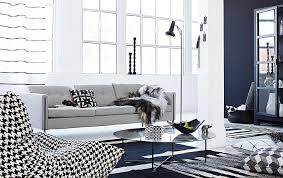 schwarz und weiß trifft ethno im wohnzimmer bild 7