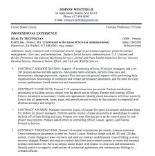Federal Government Job Resume Examples Cover Letter