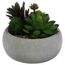 dekorative künstliche pflanze in einem zementtopf künstliche blumen in einem topf pflanzen für ein badezimmer dekorationen für ein badezimmer