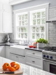 gray brick backsplash gray brick tile kitchen backsplash