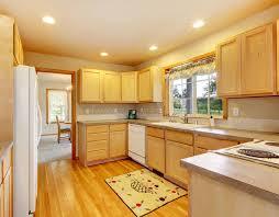 cuisine en dur cuisine moderne avec le beau plancher en bois dur photo stock