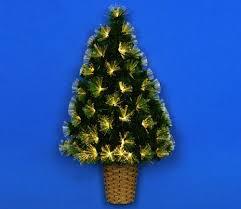 Green Mini Fibre Optic Christmas Tree by Premier 90cm Fibre Optic Wall Christmas Tree Gardensite Co Uk