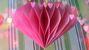 DIY Turorial How To Make Anazing 3D Paper Heart Howtomake PaperHeart Step By