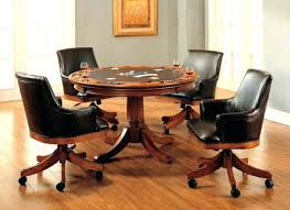 Dining Room Chairs On Rollers Furniture Engaging Frank Game Table