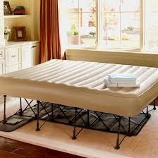 ez bed inflatable guest bed with constant comfort pump frontgate