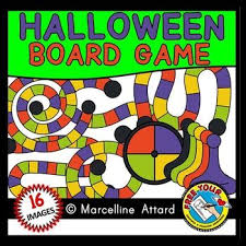 Halloween Clipart Game Board Template