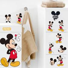 Disney Mickey Mouse Bathroom Decor by Disney Mickey Minnie Mouse Fabric Shower Curtain Home Bed Striking
