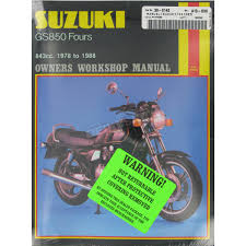 Suzuki Gs850g Service Manual
