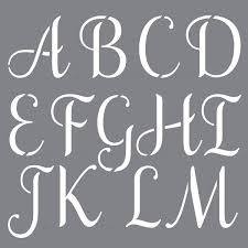 Decoart Personally Yours Sophisticated Alphabet Stencil Set 7 Pack