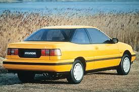 Yellow Hyundai Scoupe Yellow Hyundai