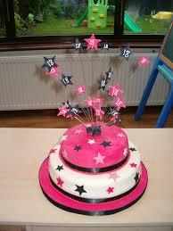 Black and White Star 18th Birthday Cake