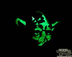 Yoda Pumpkin Stencil by Led Lit Yoda Pumpkin The Makers Workbench