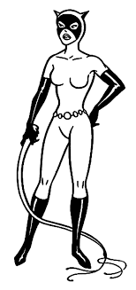 Catwoman Hold Cat O Nine Tails Coloring Pages