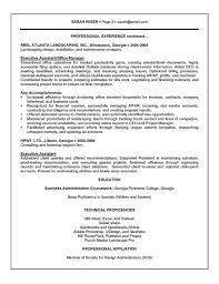 Executive Assistant Resume Example Sample Rh Resource Com