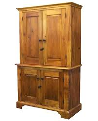 Antique Kitchen Pantry Cabinet With Pine And