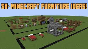 Minecraft Kitchen Ideas Youtube by 50 Minecraft Furniture Ideas Youtube