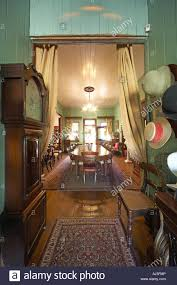 Interior Hall Of Old Colonial Style Queenslander Wooden House Building With Gardens In Dakabin Queensland QLD Australia