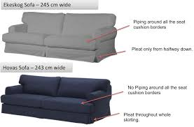 Karlstad 3 Seat Sofa Bed Cover by Hovas Vs Ekeskog Differences Can I Fit The Hovas Slipcover On