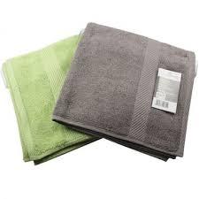 2er set frottee handtuch grau grün 50x100cm badezimmer duschtuch saunatuch