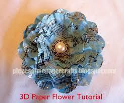 Pieces Of Me Scrapbooking Paper Crafts 3D Flower Tutorial