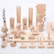 Creative Solid Wood Jewelry Display Holder Pendant Earrings Necklace Bracelets Stand Jewellery In Packaging From