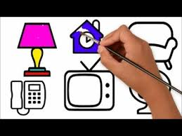 Household Items Drawing And Coloring Pages