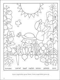 Beautiful Vegetable Garden Coloring Pages 87 For Your Free Book With