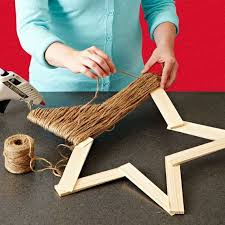 Home Made Modern Craft Of The Week 2 Rustic Christmas Stars You Can Use Paint Sticks To Do Any Kid Wreath