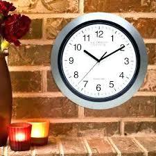 Moving Wall Clocks H Round Atomic Analog Clock In