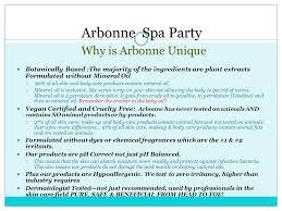Arbonne Spa Party Why Is Unique