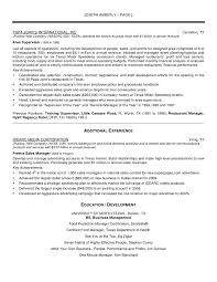 Ideas Collection Resume Airport Operations Manager Example Sample Restaurant Stibera