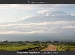 The Road Leading To Mount Kilimanjaro In Amboseli National Park Kenya