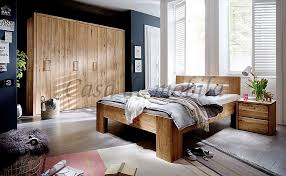 details zu schlafzimmer 3teilig falttürenschrank bett 140x200 rustikale eiche geölt