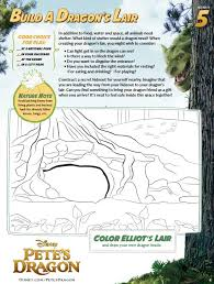 Petes Dragon Activity Sheets Build A Dragons Lair Coloring Book
