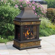 Chimney Outdoor Fire Pit Fireplace Design Idea How Portable