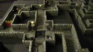 3d Dungeon Tiles Dwarven Forge by Dwarven Forge With Terranscapes Boards D U0026d Shadowfell Keep Youtube