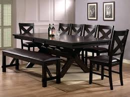 8 Piece Dining Set Modern Espresso Finish Counter Height