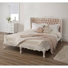 Fabric Headboards King Cal Queen Or Full Size With Padded by Sleigh Bed Frame Which Decorated With Cream Tufted Interalle Com