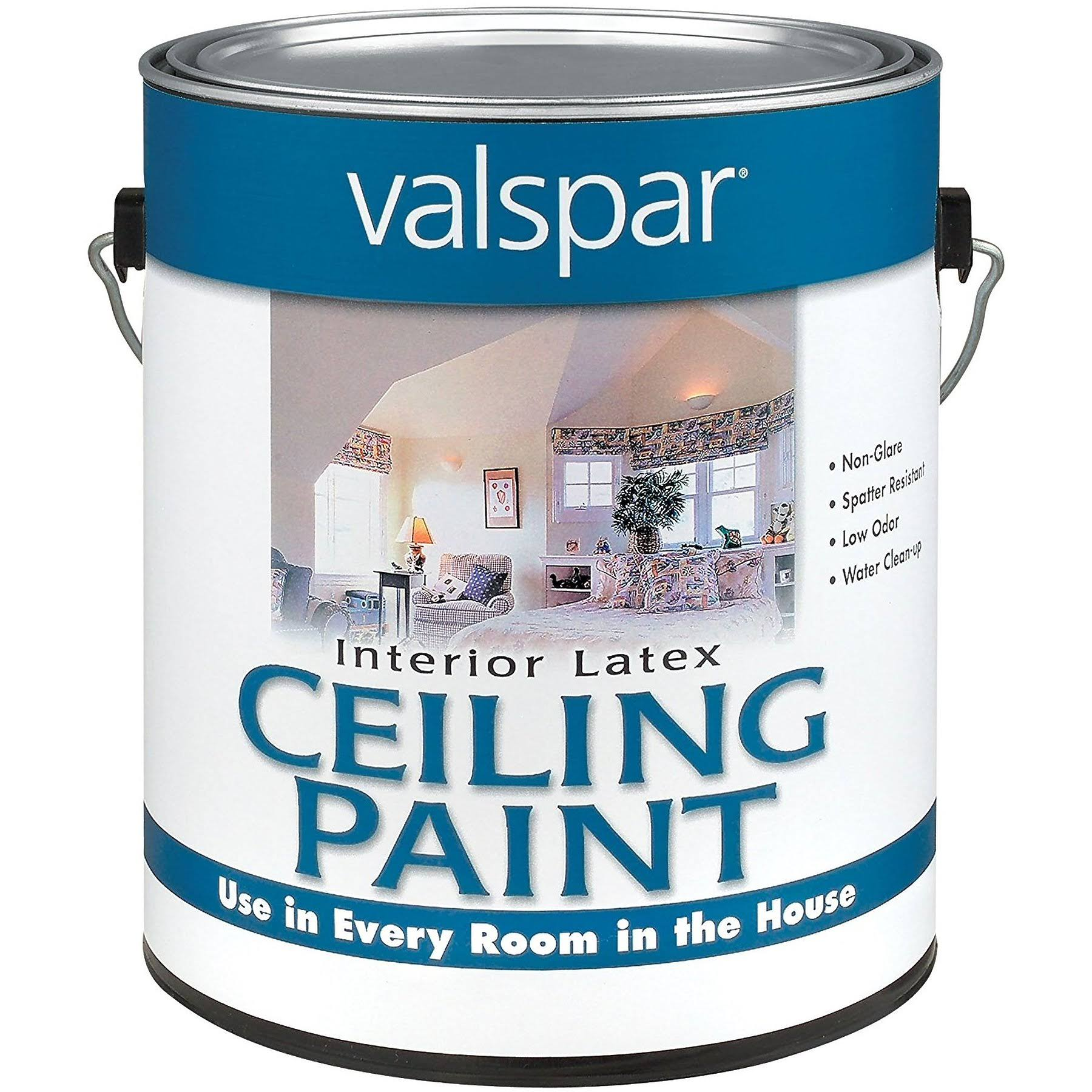 Valspar Interior Latex Ceiling White - Paint, 1 Gallon
