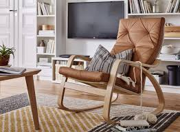 Poang Rocking Chair For Nursing by Living Room Inspirations Poang Chair Brown Leather Ideal Room