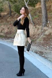 Winter Leggings Skirt Outfits 2017